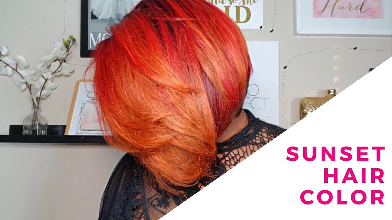 Sunset Hair Color