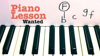 Wanted- Piano Lesson- Hunter Hayes    (Todd Downing)