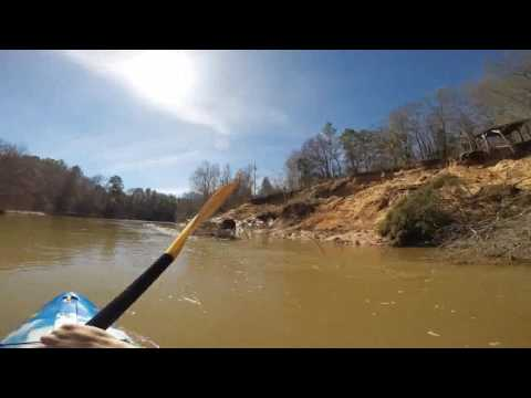 Kayaking The Lower Uphapee Creek in Macon County Alabama. All Flat Water