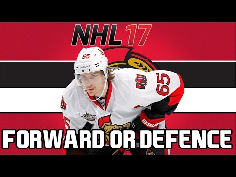 NHL 17: Erik Karlsson I  Forward Or Defenceman?