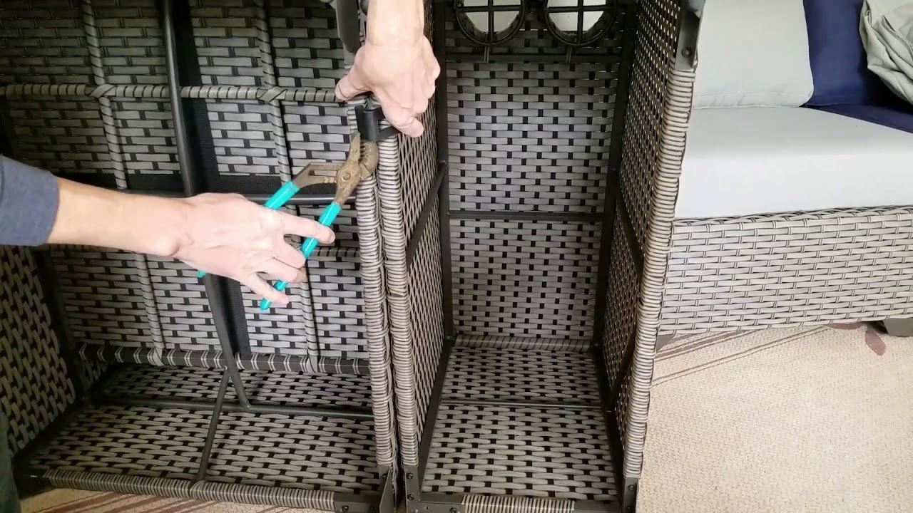 Install Wicker Patio Furniture Clips