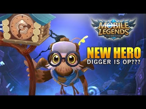 THE MOBILE LEGENDS NEW HERO DIGGER IS OP OR IS HE TRASH