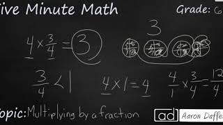 6th Grade Math Multiplying by a Fraction