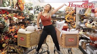 FALL DECOR Shop With Me! Homegoods & Michaels (STARTING FROM SCRATCH!)