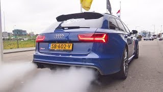 Audi RS6 (C7) insanely loud exhaust sound (straight piped)