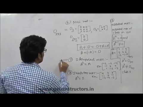 Types of Matrices & Properties of Matrix : Linear Algebra (Concepts, Tricks & ShortCut)