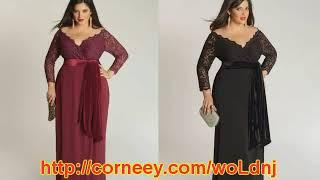 темные платья для полных