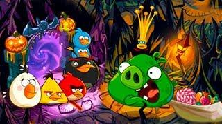Мультик игра для детей Angry Birds Epic 100 энгри бердс Хэллоуин детские страшилки КРУТИЛКИНЫ