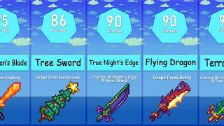 Terraria - Highest Daṁage Swords Comparison