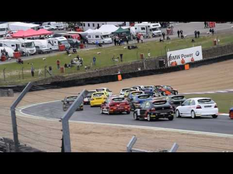 MGCC MG Trophy Brands Hatch 2017 First Lap Incident