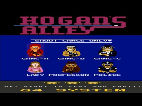 Hogan's Alley NES Longplay - Gameplay all game mode  