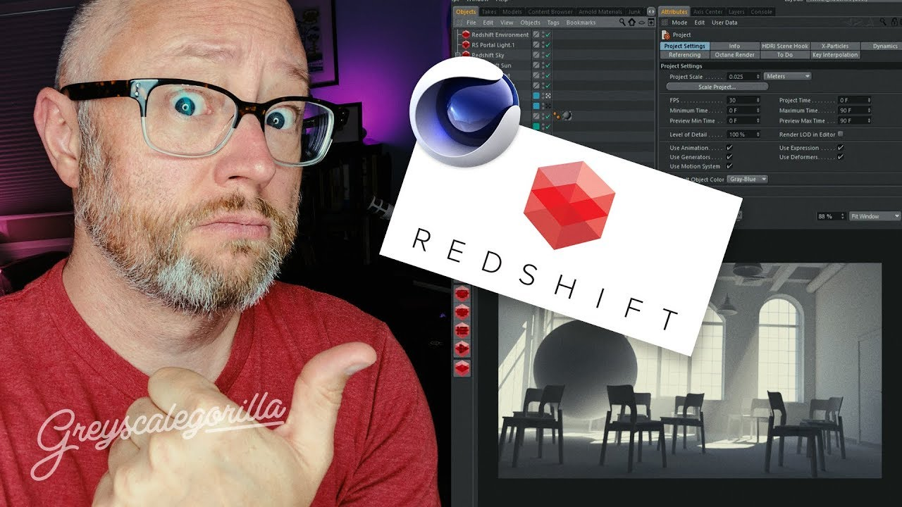 Getting to Know Redshift for Cinema 4D | Greyscalegorilla