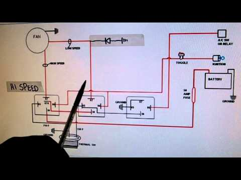 2- Sd Electric Cooling Fan Wiring Diagram - YouTube V Cooling Fan Relay Wiring Diagram on