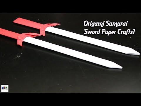 Origami Paper Samurai Sword/Knife   How To Make Origami Samurai Swords