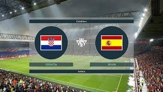 Croatia vs Spain   UEFA Nations League 15 November 2018 Gameplay