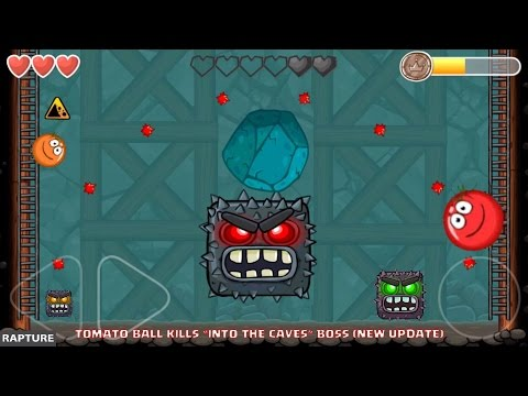 RED BALL 4 - 'INTO THE CAVES' BOSS KILLED by Tomato Ball Level 75 (New Update)