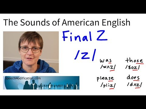 The Sounds Of American English: Final Z