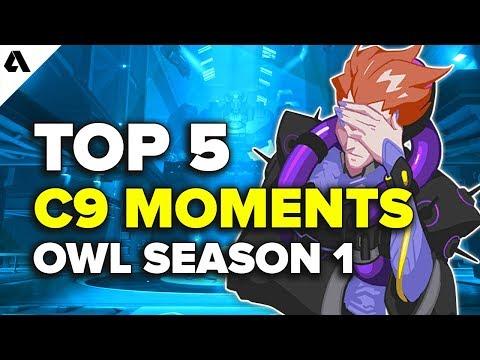 Top 5 OWL C9 Moments | Overwatch League Season 1 thumbnail