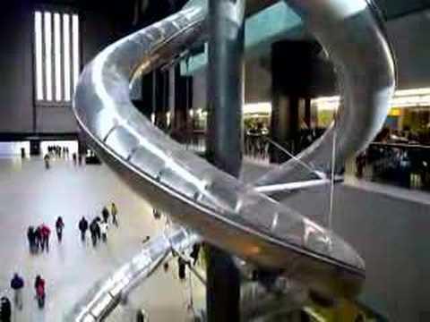 Slides In Tate Modern Art Gallery Youtube