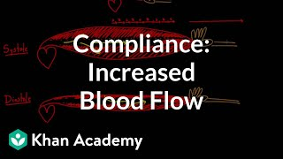 Compliance - increased blood flow   Circulatory system physiology   NCLEX-RN   Khan Academy