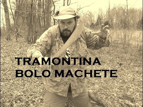Tramontina Bolo Machete Knife Review / Affordable Machete Field Test