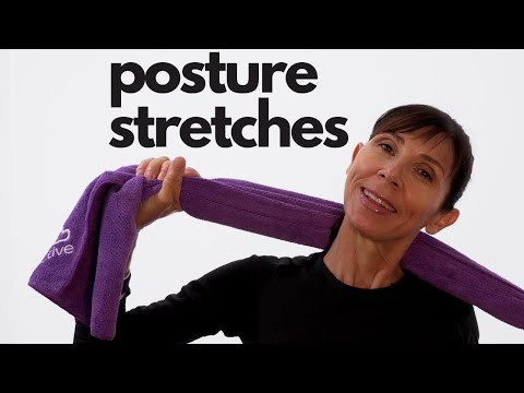 Physio Guided Posture Correction Stretches Routine for Beginners 15 mins