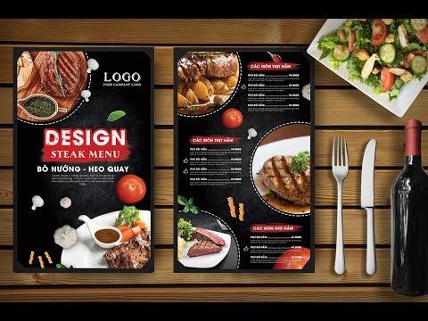 Hướng dẫn thiết kế Menu nhà hàng bằng Photoshop   Hai thanh Design