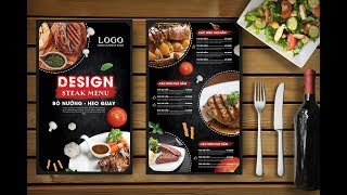 Hướng dẫn thiết kế Menu nhà hàng bằng Photoshop | Hai thanh Design