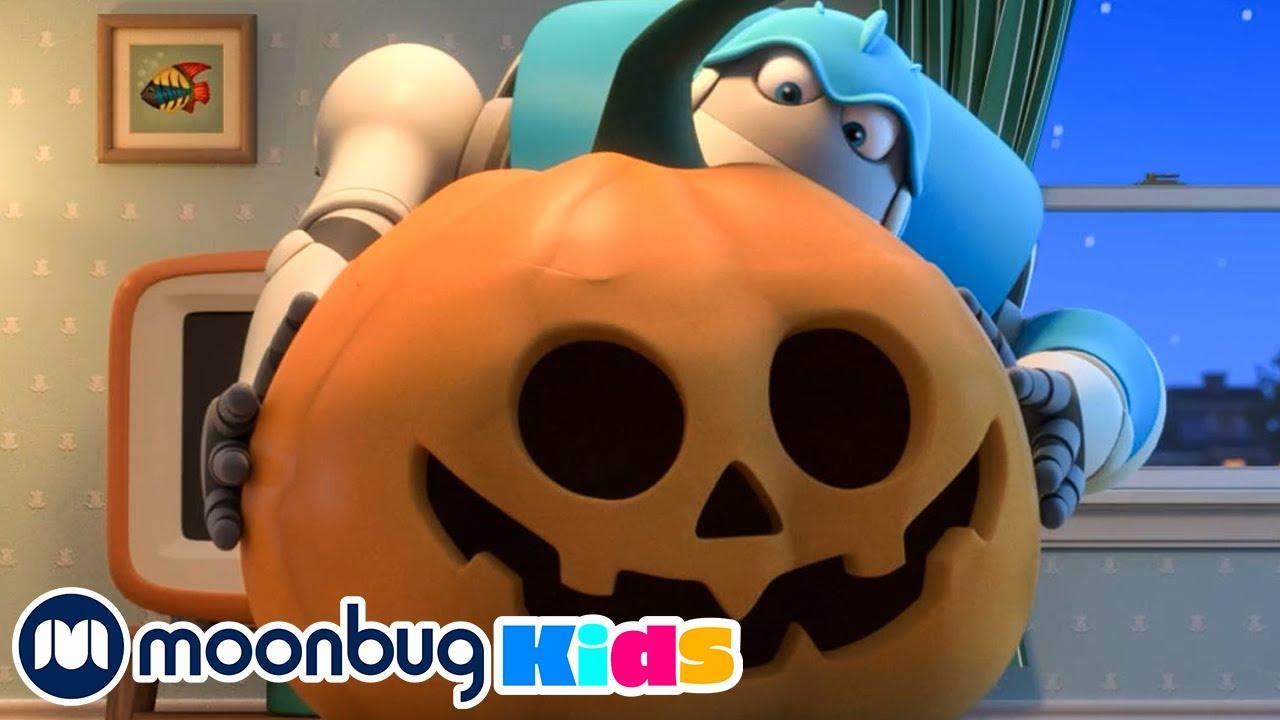 The Pumpkin is ALIVE!!! | @ARPO The Robot | Robot Nanny | Baby Cartoons | MOONBUG KIDS