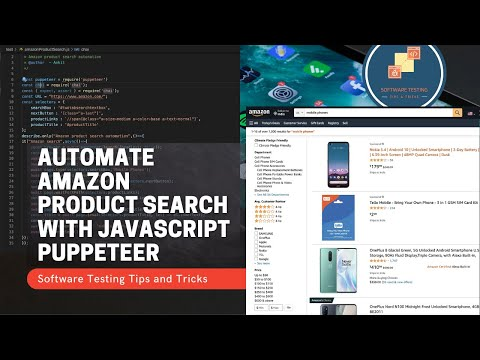 Automating amazon product search using puppeteer javascript
