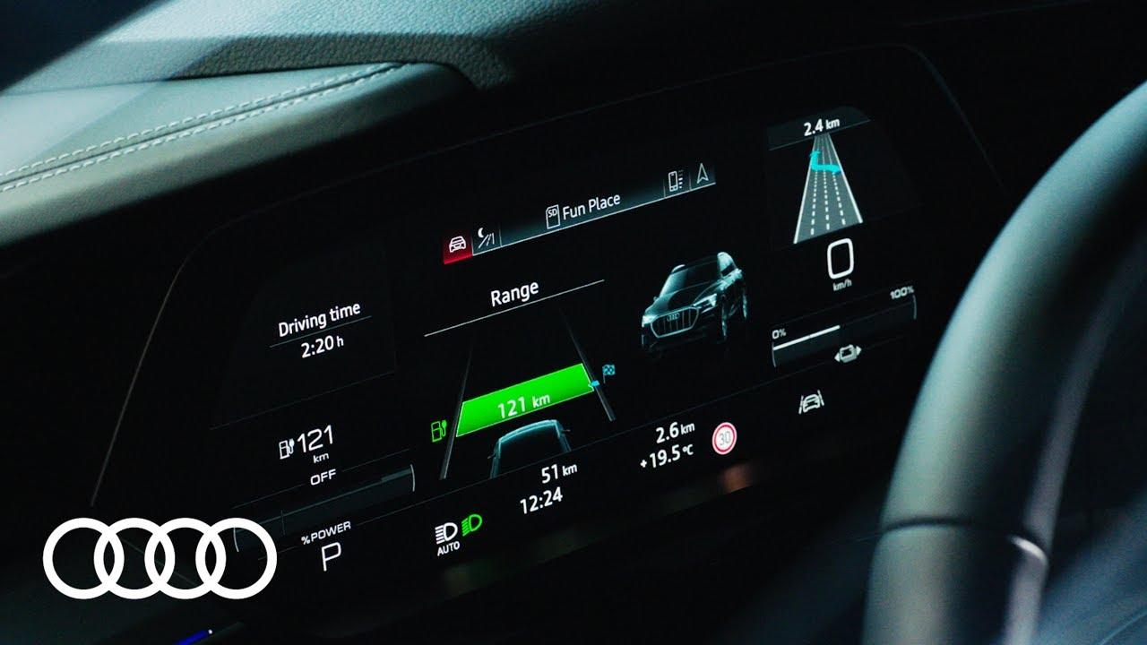 Audi e-tron – Reichweitenanzeige