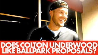 Colton Underwood from The Bachelor reveals his perfect ballpark proposal | The Fundamentals
