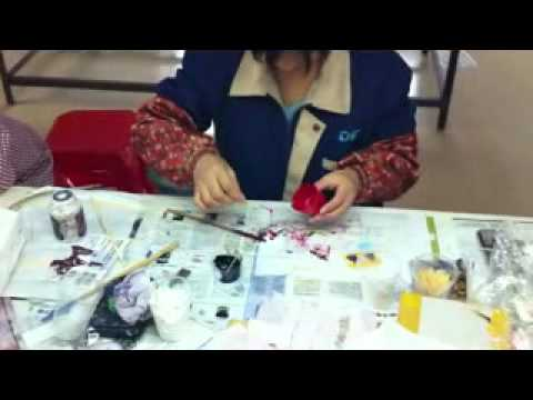 08 How Red Swarovski is made   Mixing Resin xvid