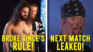 UNDERTAKER NEXT WWE MATCH LEAKED! SETH ROLLINS BROKE RULE! WWE SUMMERSLAM MOVED?Wrestling News
