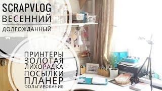 СКРАПОВЛОГ/Решетка-золотая/Фольгирование/Обзор ПОСЫЛКИ