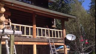 Log Home Refinishing Newport WA