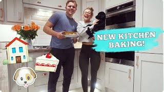 FIRST TIME BAKING IN OUR NEW KITCHEN!!! Couple's Vlog
