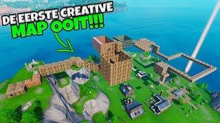 DE ALLEREERSTE CREATIVE MAP OOIT!!! - Fortnite Seizoen 1