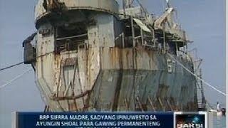 Saksi: BRP Sierra Madre sa Ayungin Shoal, puro kalawang na at tadtad ng butas