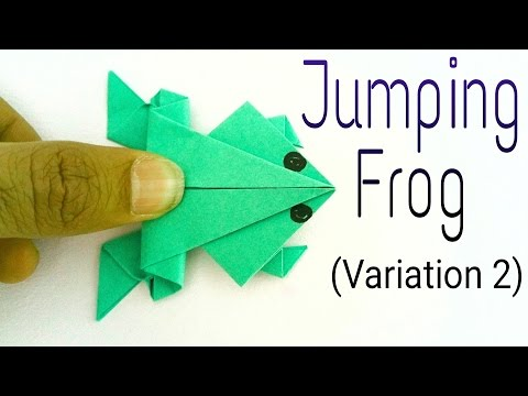 "Traditional Jumping Frog 🐸"" - (Variation 2) - Action Fun Origami Tutorial by Paper Folds ❤️"