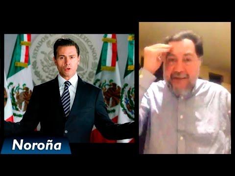 Noroña Desmiente el Mensaje Presidencial de Peña Nieto - [Periscope][05-Enero-2017]