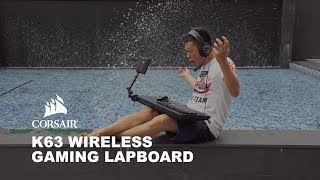 Real Mobile Gaming with the Corsair Lapboard for the K63 Wireless Gaming Keyboard