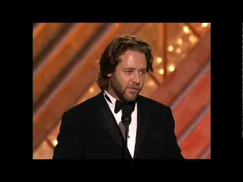 Russell Crowe Wins Best Actor Motion Picture Or Drama - Golden Globes 2002