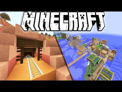"Minecraft 1.10 Snapshot: Water Villages, Surface Mineshaft's & Giant Towers!  ""Snapshot 16w20a"""