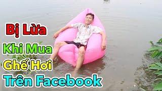 Lâm Vlog - Bị Lừa Khi Mua Ghế Hơi Sofa Trên Facebook | Dùng Thử Ghế Sofa Hơi