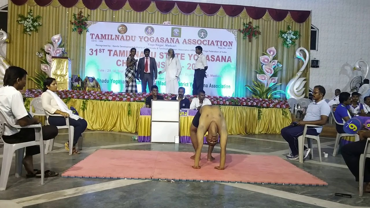 Tamilnadu Yoga Competition in Madurai on 29 09 2018 video 2