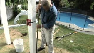 How To Put Up An Arched Garden Arbor