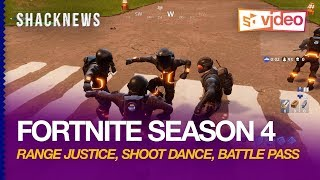 Fortnite Saison 4 Gameplay: Orange Justice, Shoot Dance, Battle Pass Dancing Emotes, Emoticons