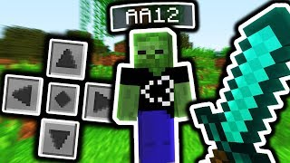 PC Minecraft Player VS Player in Minecraft Pocket Edition! (AA12)