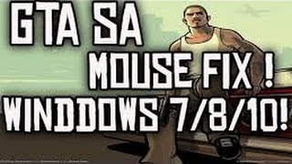 GTA San Andreas Mouse not working problem Fix [No Downloads]